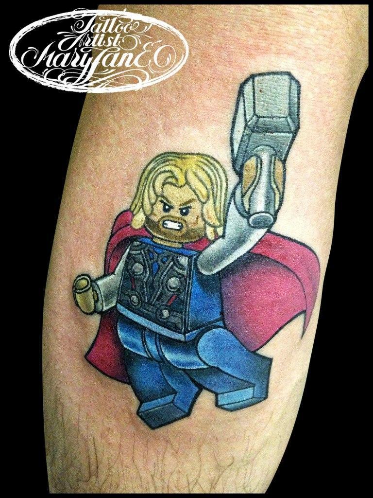 Художественная татуировка «Лего-Тор» от Мадины Mary Jane.