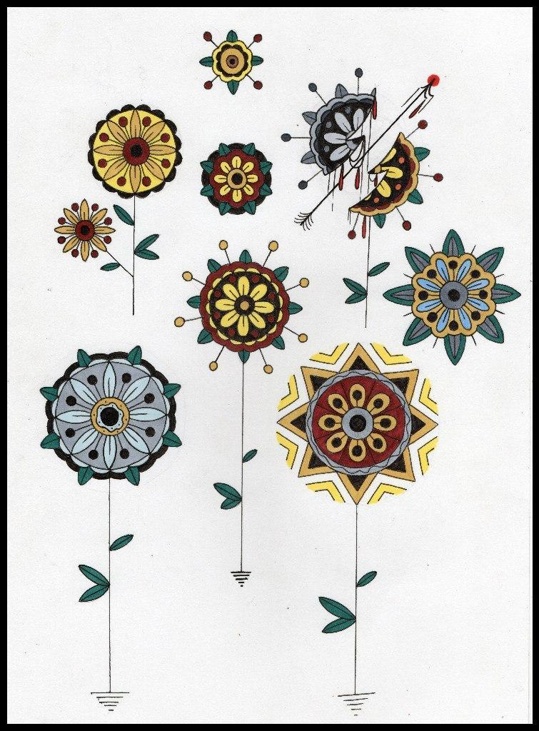 Свободные эскизы «Цветы» от Андрея Бойцева.