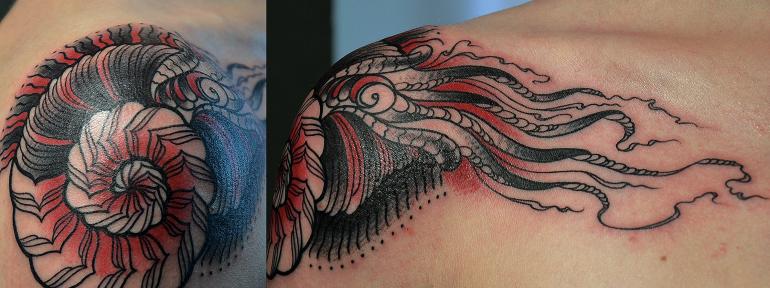 Художественная татуировка «Моллюск» от Валеры