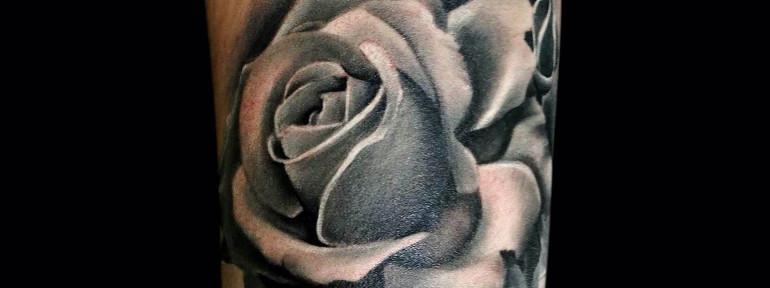 Художественная татуировка » Роза». Мастер Мадина Mary Jane.