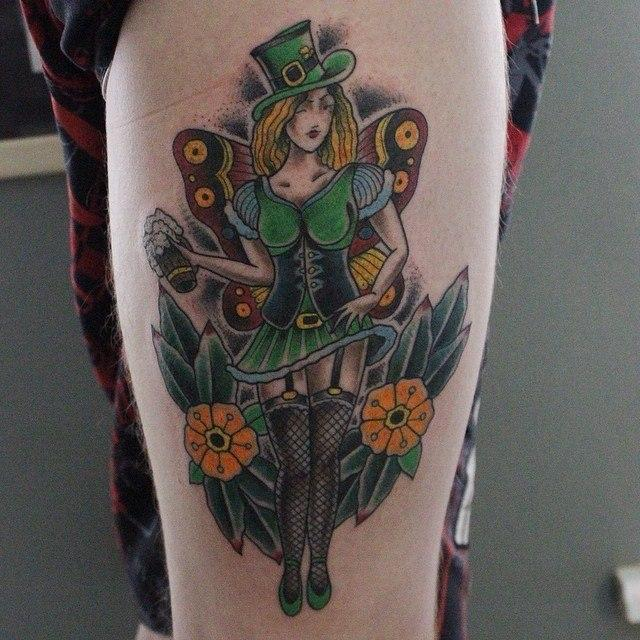 Художественная татуировка «Ирландка» от Данилы-Мастера