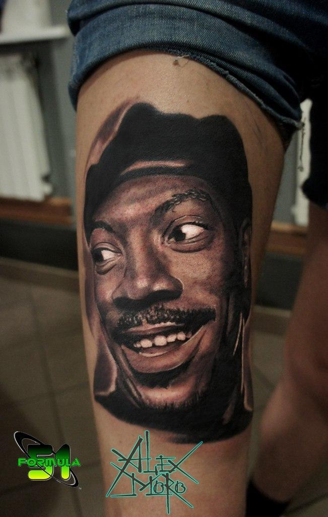 Художественная татуировка «Эдди Мерфи» от Александра Морозова
