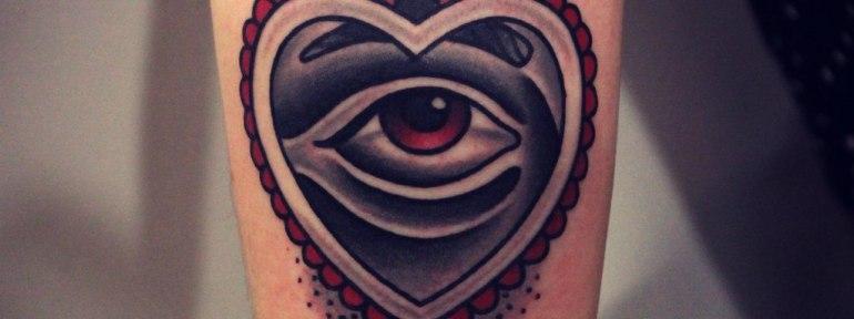 Художественная татуировка «Сердце». Мастер Денис Марахин.