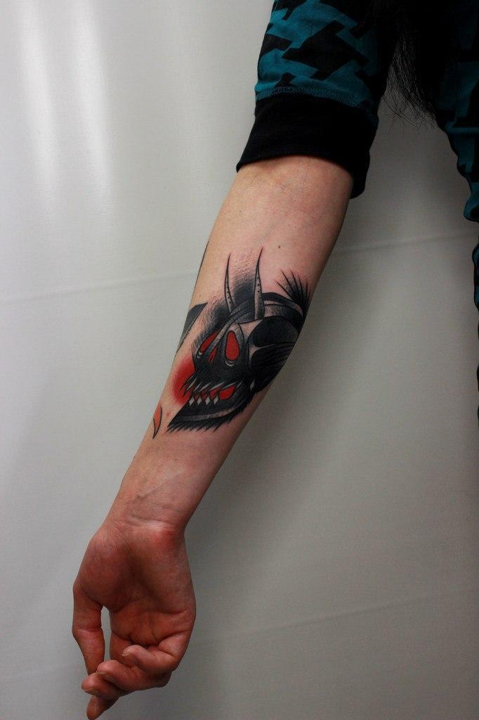 Художественная татуировка «Череп». Мастер Вова Snoop.