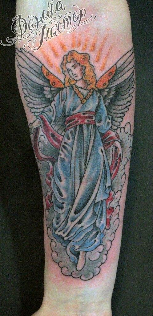 Художественная татуировка «Ангел». Данила-Мастер
