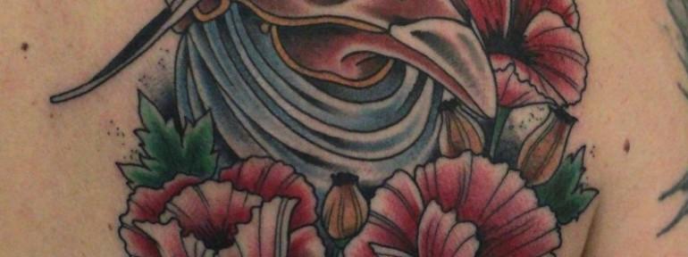 Художественная татуировка «Чумной Доктор» от Данилы-Мастера