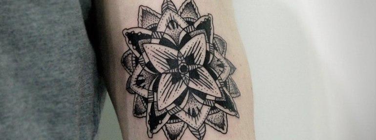Художественная татуировка «Мандала». Мастер Инесса Кефир.