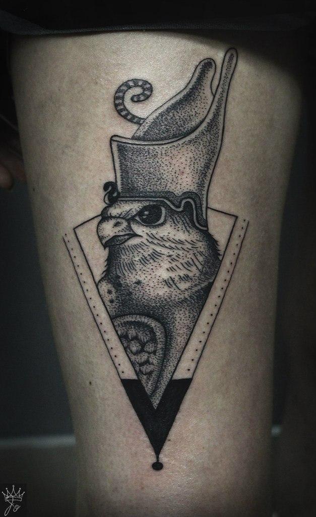 Художественная татуировка «Гор». Мастер Ксения Jokris.