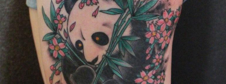 Художественная татуировка «Панда» от Данилы-Мастера