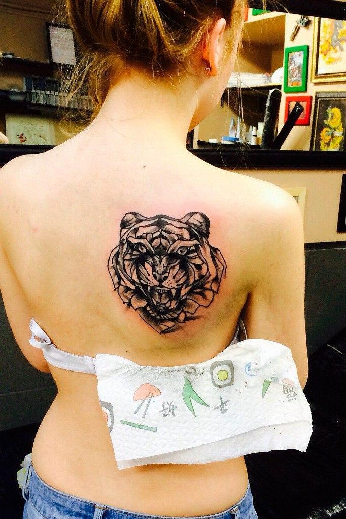 Художественная татуировка «Тигр». Мастер Евгений Константинов.