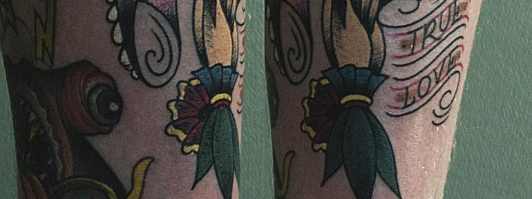 Художественная татуировка «True Love» от Валеры Моргунова