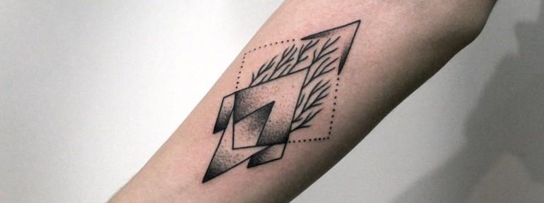 Художественная татуировка «Геометрия». Мастер Андрей Черновалов.
