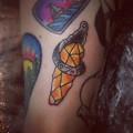 Художественная татуировка «Кристалл». Мастер Анастасия Стриж. По собственному дизайну. Расположение: голень. Время работы: 1 час.