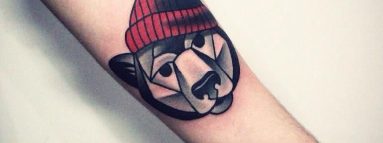 Художественная татуировка «Медведь». Мастер — Денис Марахин.