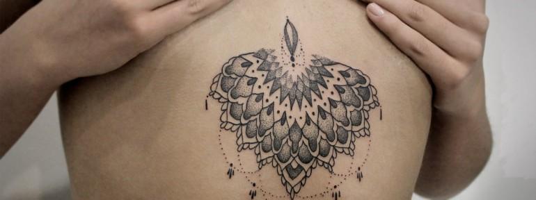 Художественная татуировка «Узор». Мастер — Инесса Кефир.