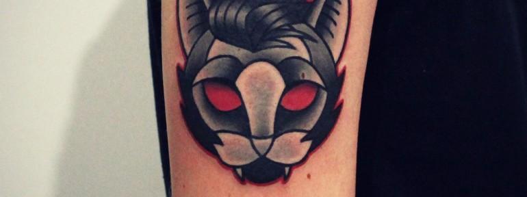 Художественная татуировка «Кот». Мастер — Денис Марахин.