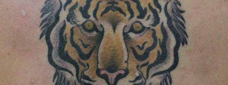 Художественная татуировка «Тигр» от Данилы-Мастера