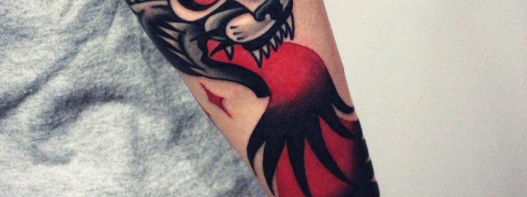 Художественная татуировка «Тигр». Мастер — Денис Марахин.