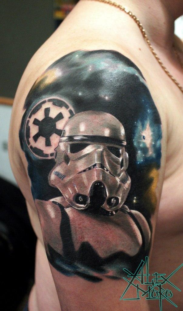 Художественная татуировка «Штурмовик» от Александра Морозова