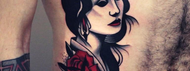 Художественная татуировка «Дама». Мастер — Денис Марахин