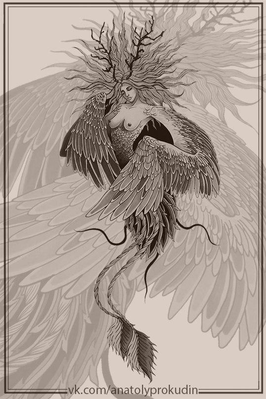 Свободный эскиз «Ламия» от Анатолия Прокудина.