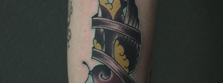 Художественная татуировка «Птичка» от Валеры