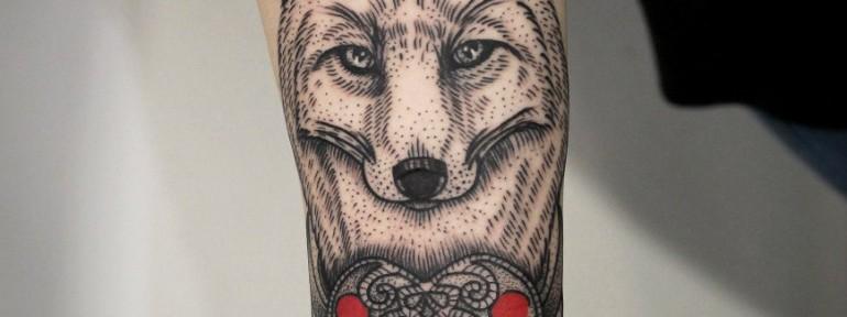 Художественная татуировка «Лиса». Мастер — Инесса Кефир