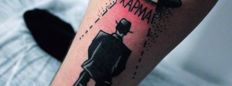 Художественная татуировка «Карма». Мастер — Денис Марахин