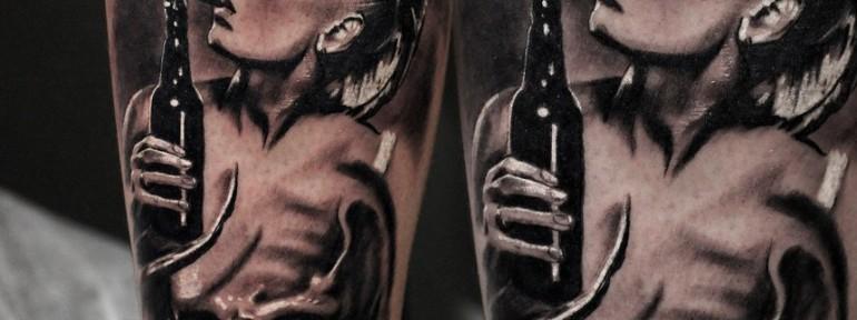 Художественная татуировка «Девушка» от Александра Морозова
