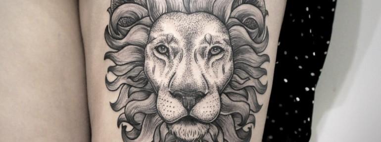 Художественная татуировка «Лев». Мастер — Инесса Кефир