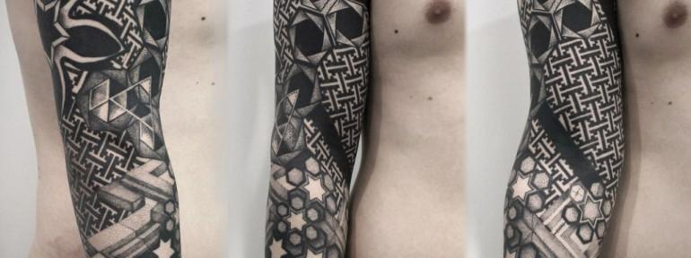 Художественная татуировка «Геометрия». Мастер — Инесса Кефир