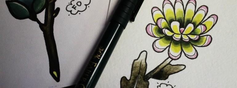 Свободный эскиз «Цветок» от Фоли Fo.