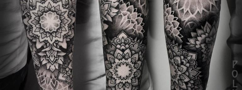 Художественная татуировка «Мандалы» от Юрия Полякова