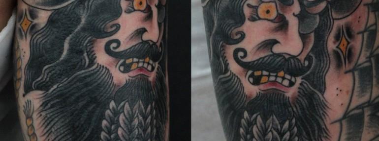 Художественная татуировка «Пират» от Данилы-Мастера
