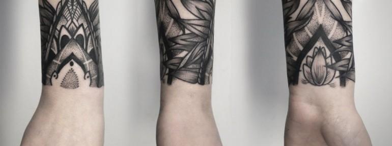Художественная татуировка «Браслет». Мастер — Инесса Кефир