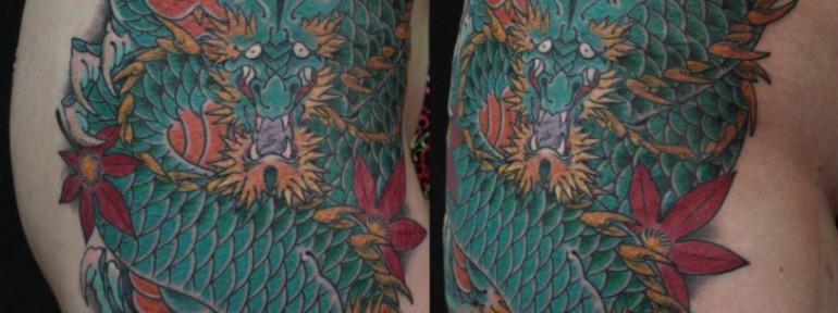 Художественная татуировка «Дракон» от Данилы-Мастера