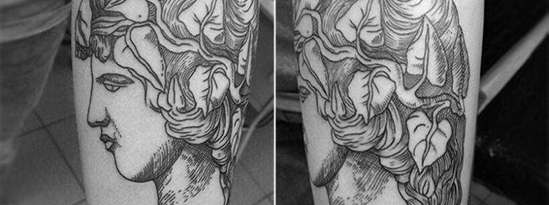 Художественная татуировка «Голова» от Анатолия Прокудина.
