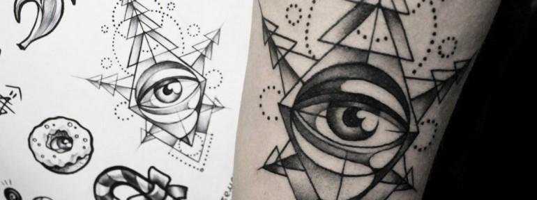 Художественная татуировка «Глаз». Мастер — Анна Корь