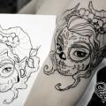 Художественная татуировка «Эльфийка». Мастер — Анна Корь. Расположение — плечо. Время работы — 1,5 часа. По своему эскизу.