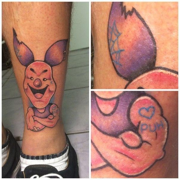 Художественная татуировка «Пятачок». Мастер Ил Берёза.