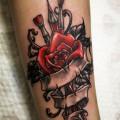 Художественная татуировка «Роза». Мастер — Анна Корь. Расположение — предплечье. Время работы — 2 часа. По своему эскизу.