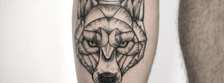 Художественная татуировка «Волк». Мастер — Инесса Кефир.