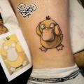 Художественная татуировка «Покемон». Мастер — Анна Корь. Расположение — лодыжка. Время работы — 40 минут. По эскизу клиента