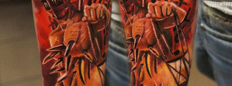 Художественная татуировка «Демон» от Александра Морозова
