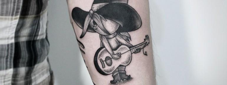 Художественная татуировка «Персонаж из м/ф «Tom&Jerry»». Мастер — Инесса Кефир