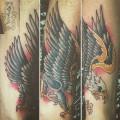 """Художественная татуировка """"орёл"""". Перекрытие старой татуировки. Мастер Ил Берёза"""