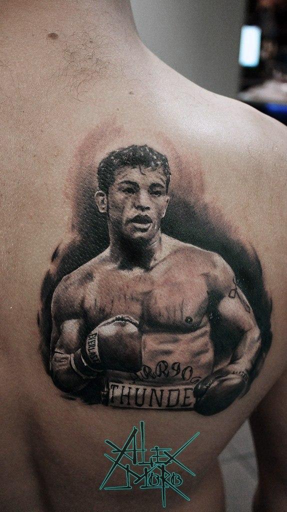 Художественная татуировка «Артуро Гатти» от Александра Морозова