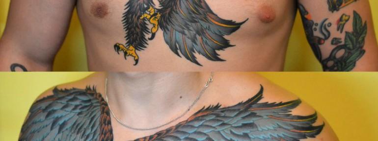 Татуировка «Орел». Мастер Виолетта Доморад.