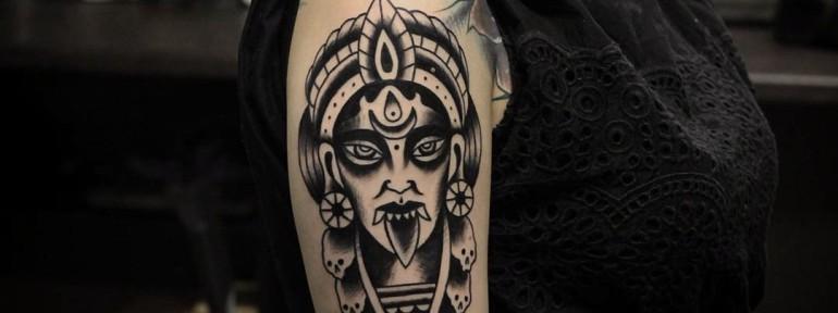 Богиня «Кали» от мастера художественной татуировки Александра Бахаревича