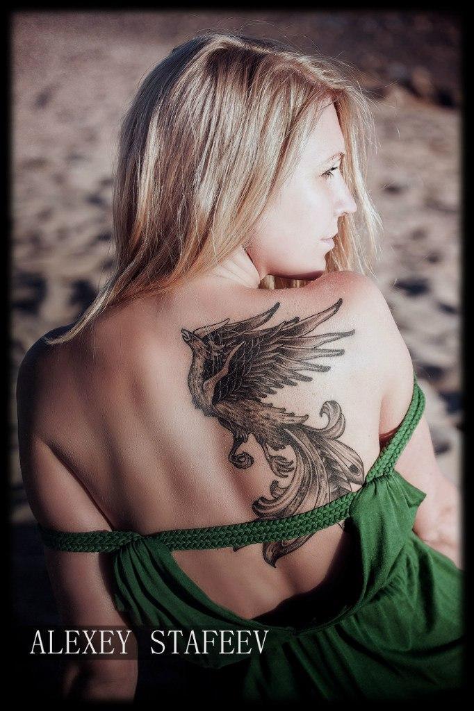 Татуировка «Феникс». Мастер Алексей Стафеев.